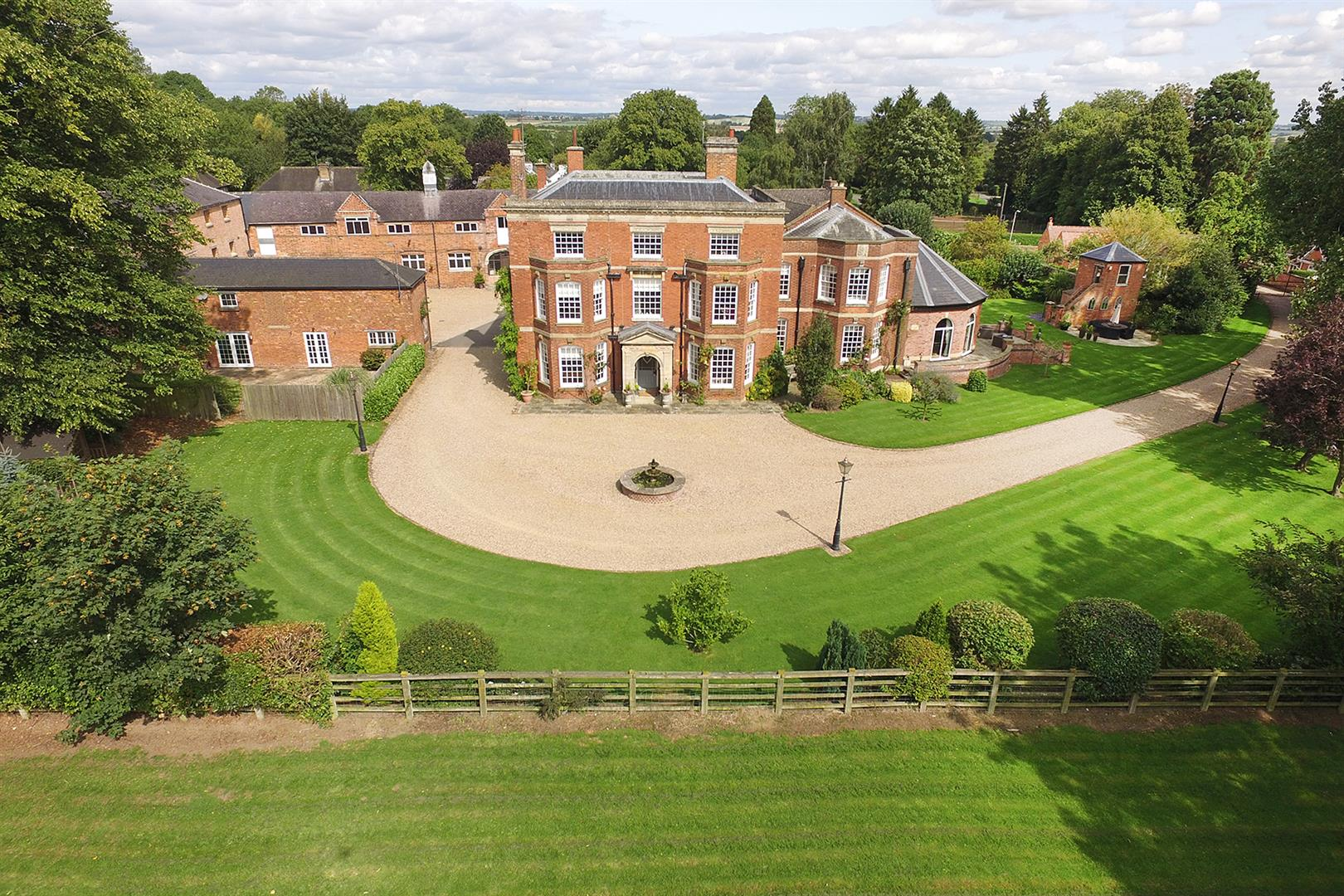 A Handsome Th Century Country House With Outbuildings And Paddock Land Close To Market Harborough Station
