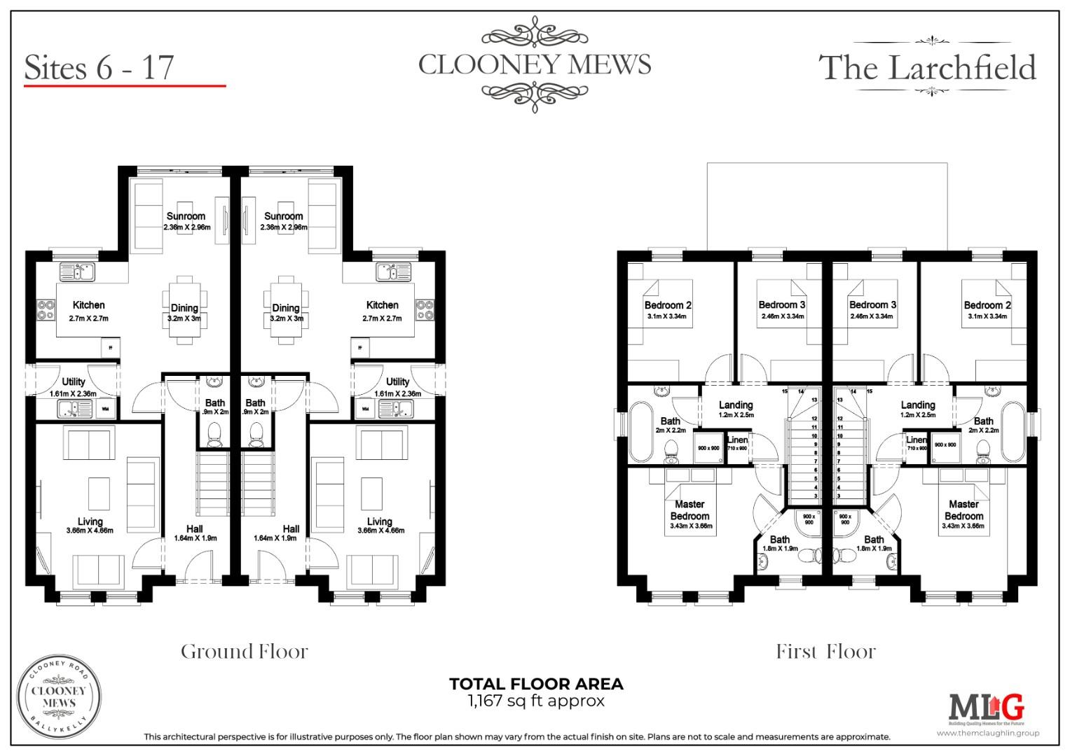 CLOONEY MEWS - The Larchfield - Floor Plan _ 6 - 1