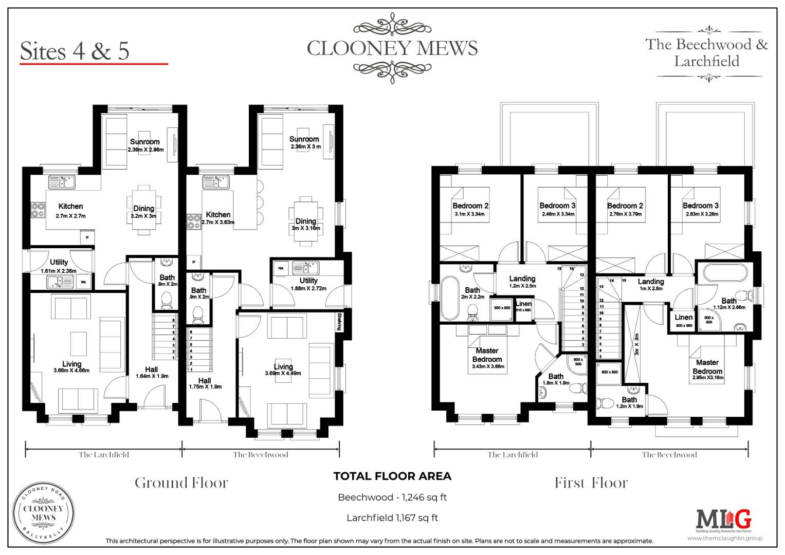CLOONEY MEWS - The Beechwood - Floor Plan - 4-5.jp