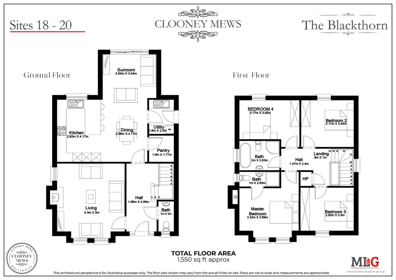 CLOONEY MEWS - The Blackthorn - Floor Plan _ 18 -