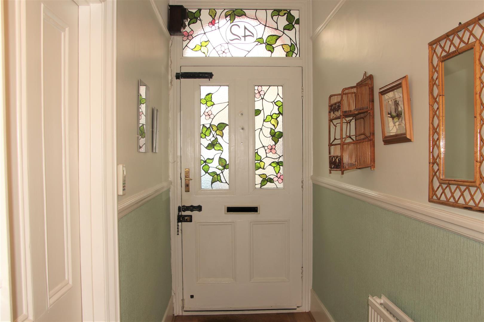 Stain glass front door